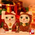 【季節限定】ちび招き猫ちゃんセット サンタくんとトナカイちゃん(WAZAHONPO-Xmas)