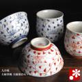 九谷焼 夫婦茶碗 夫婦湯呑セット 唐草(WAZAHONPO-50525)