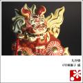 九谷焼 6号剣獅子 盛(WAZAHONPO-41858)