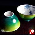 夫婦茶碗 釉彩染付(WAZAHONPO-40331)