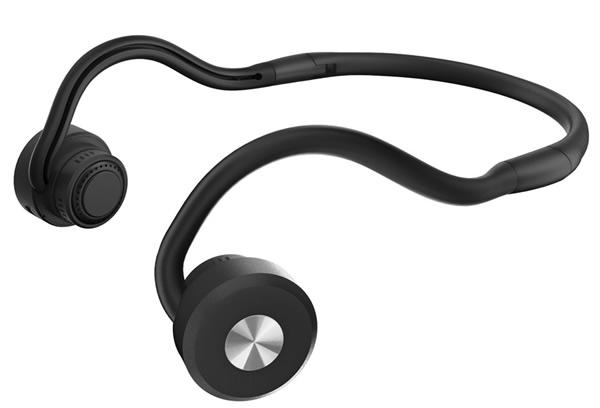 【DenDen】 鼓膜を介さず骨から伝える 集音機付骨伝導ワイヤレスヘッドホン Bluetooth搭載