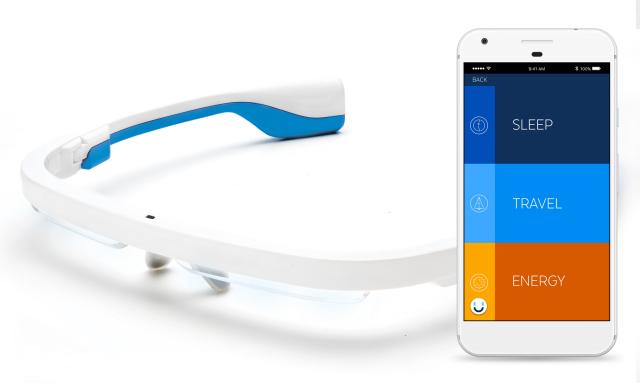 【AYO/アイオ】  光の力で体内時計を整える 時差ボケ解消 メガネ型ウェアラブルデバイス/25-001
