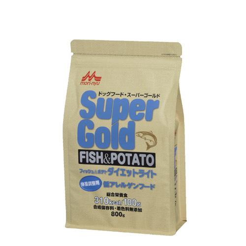 森乳 スーパーゴールド フィッシュ&ポテト(ダイエットライト)体重調整用低アレルゲンフード 800g