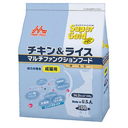森乳 スーパーゴールド チキン&ライス マルチファンクションフード(成猫用) 500g