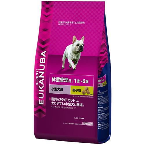 Eukanuba ユーカヌバ 体重管理用 1歳~6歳小型犬用 超小粒 2.7kg