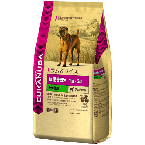 Eukanuba ユーカヌバ 体重管理用 1歳~6歳 全犬種用 小粒 ラム肉使用 2.7kg
