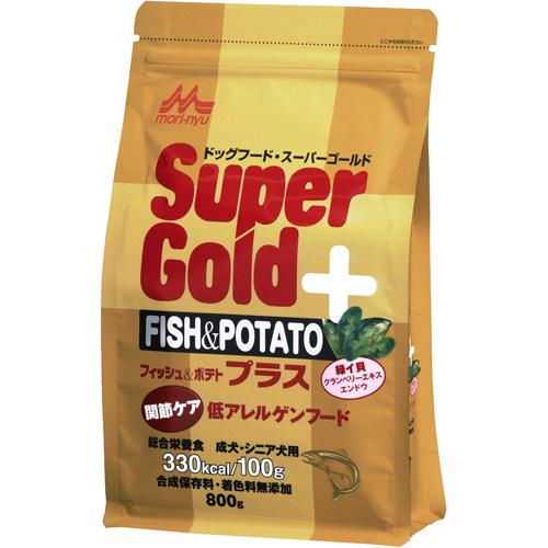 森乳 スーパーゴールド フィッシュ&ポテト プラス 関節ケア用 低アレルゲンフード 800g