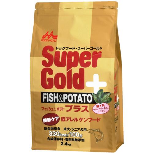 森乳 スーパーゴールド フィッシュ&ポテト プラス 関節ケア用 低アレルゲンフード 2.4kg