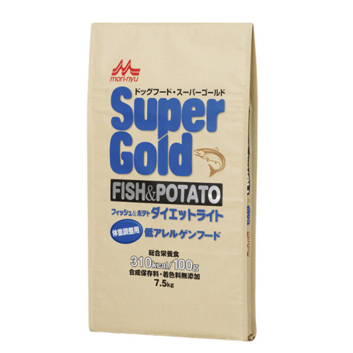 森乳 スーパーゴールド フィッシュ&ポテト(ダイエットライト)体重調整用低アレルゲンフード 7.5kg