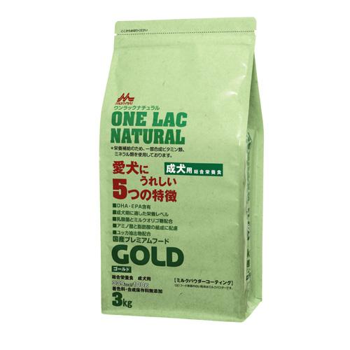 森乳 国産プレミアムフード ワンラックナチュラル ゴールド(成犬用) 3kg