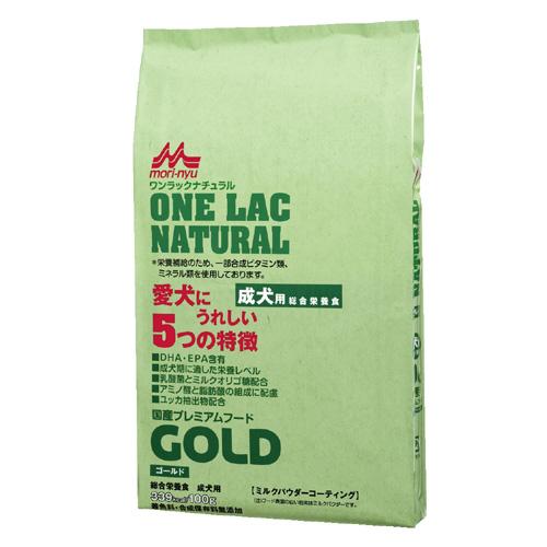 森乳 国産プレミアムフード ワンラックナチュラル ゴールド(成犬用) 10kg