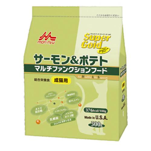 森乳 スーパーゴールド サーモン&ポテト マルチファンクションフード(成猫用) 500g