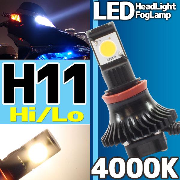 CREE社製 LEDヘッドライト フォグランプ H11 4000k 1灯分