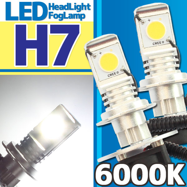 CREE社製 LEDヘッドライト フォグランプ H7 6000k