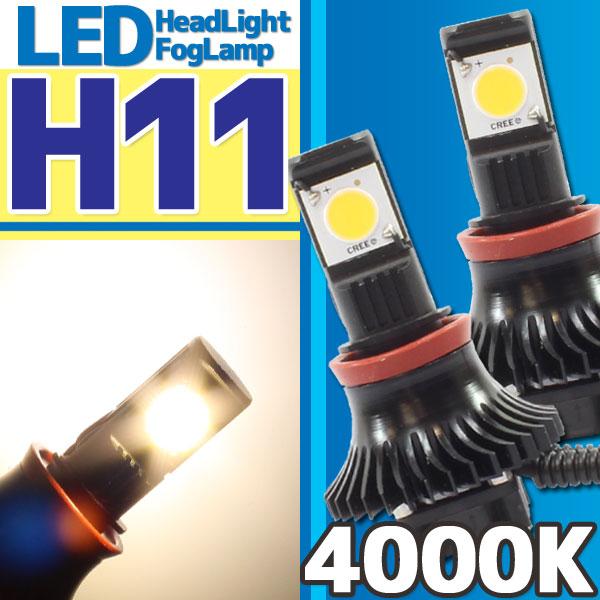 CREE社製 LEDヘッドライト フォグランプ H11 4000k 二灯分