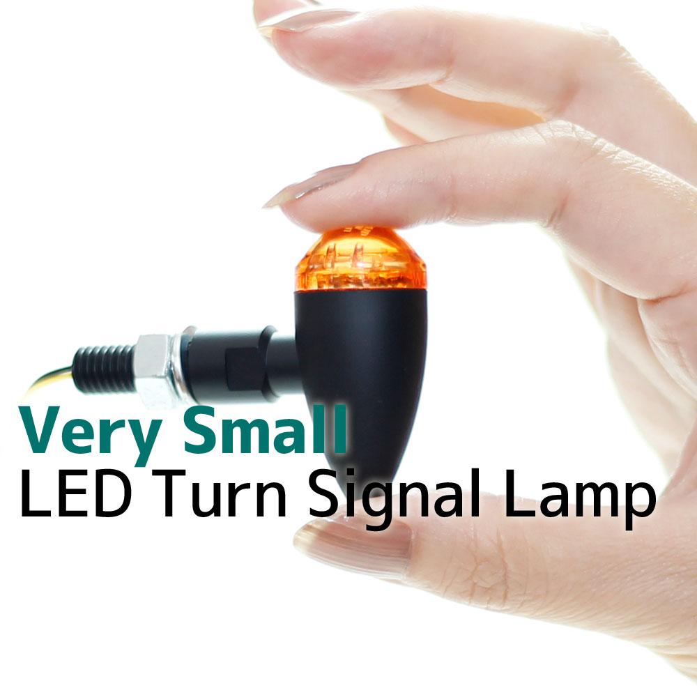 マイクロ ミニ LED ブレット ウインカー 超小型 ウィンカー ブラックボディ アンバーレンズ 車検対応 2個セット