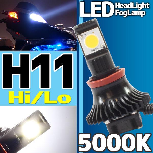 CREE社製 LEDヘッドライト フォグランプ H11 5000k 1灯分