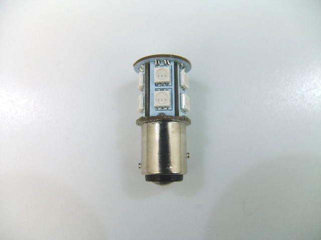 汎用バイクパーツ:2色発光 3chips 13連 SMD-LEDライトバルブ ダブル球 G18 サイズ