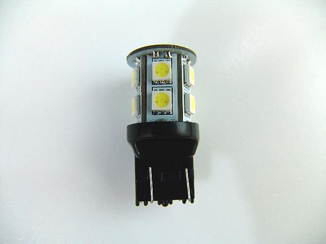 汎用バイクパーツ:2色発光 3chips 13連 SMD-LEDライト/ウェッジバルブ ダブル球T20