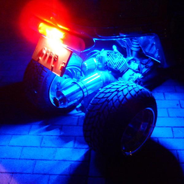 SMD-LED テープ 点灯発光イメージ ブルー
