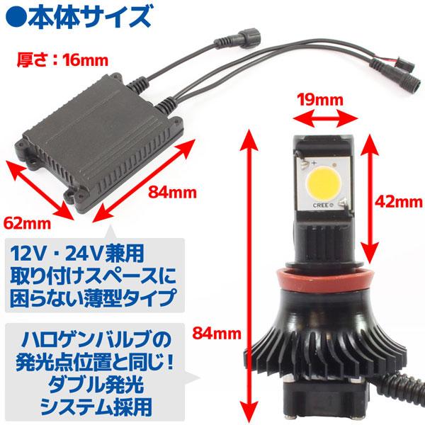 CREE社製 LEDヘッドライト フォグランプ H11