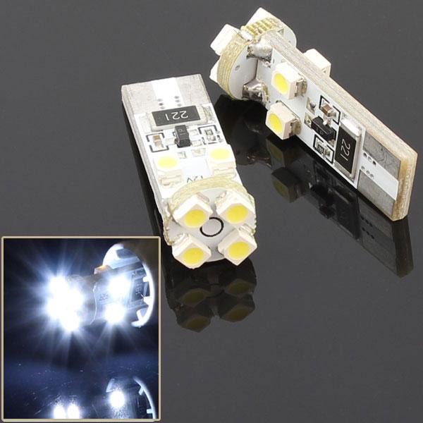 T10 ウエッジ球タイプ 球切れ警告灯キャンセラー付 8連【10000ケルビン】LEDバルブ ホワイト 2個セット