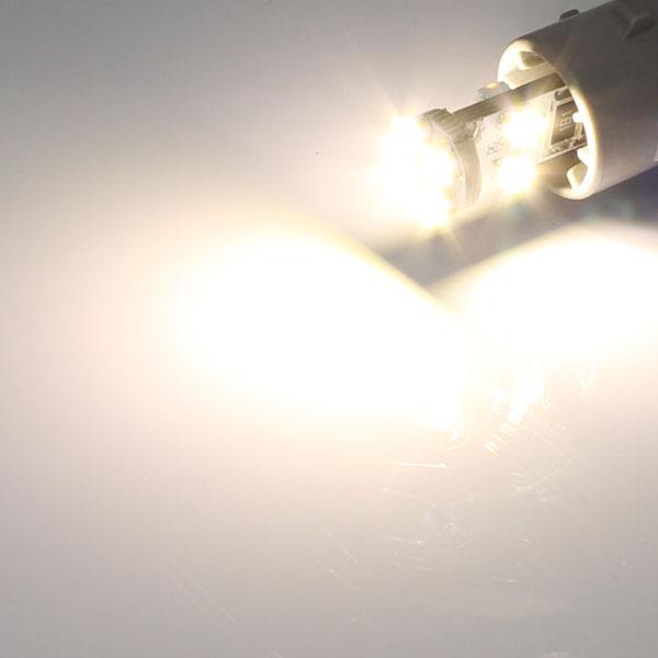 T10 ウエッジ球タイプ 球切れ警告灯キャンセラー付 8連【3000ケルビン】LEDバルブ ホワイト 2個セット