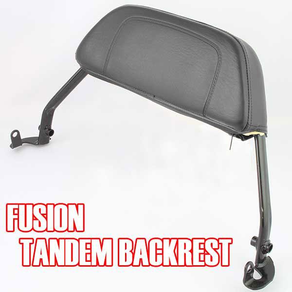 フュージョン用(MF02):タンデム バックレスト (ブラック)