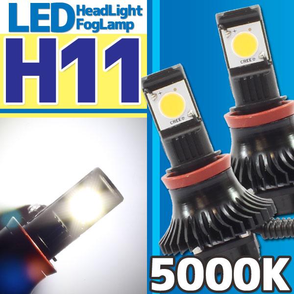 CREE社製 LEDヘッドライト フォグランプ H11 5000k 二灯分