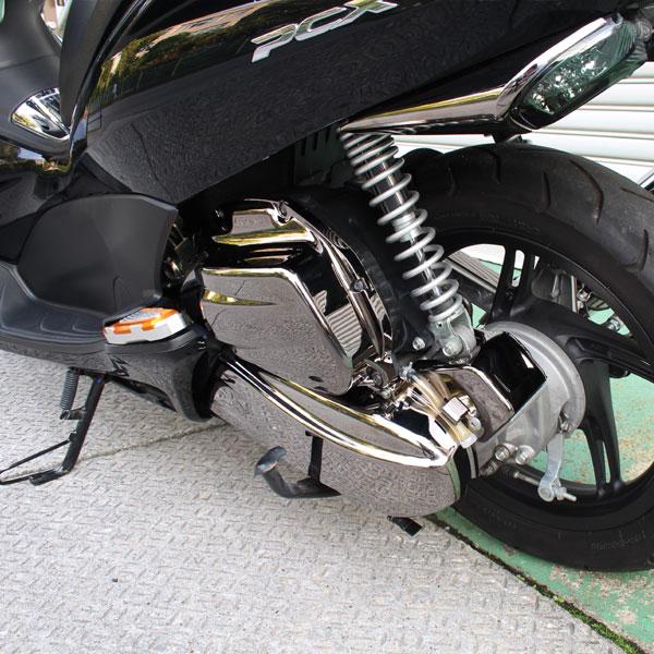 PCX125 JF28 ブラックメッキ エアクリーナーカバー