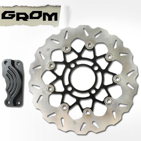 GROM グロム MSX125用(JC61):GROM グロム MSX125 JC61 大口径280mm フロント フローティング ブレーキディスク  ローター