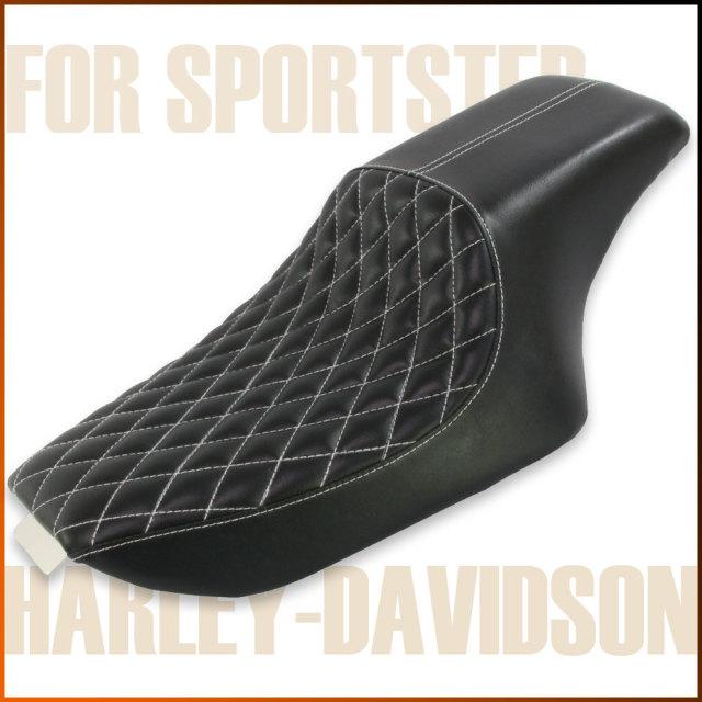 ハーレー スポーツスター ソロシート ブラック ダイヤモンド ステッチ XL883 XL1200