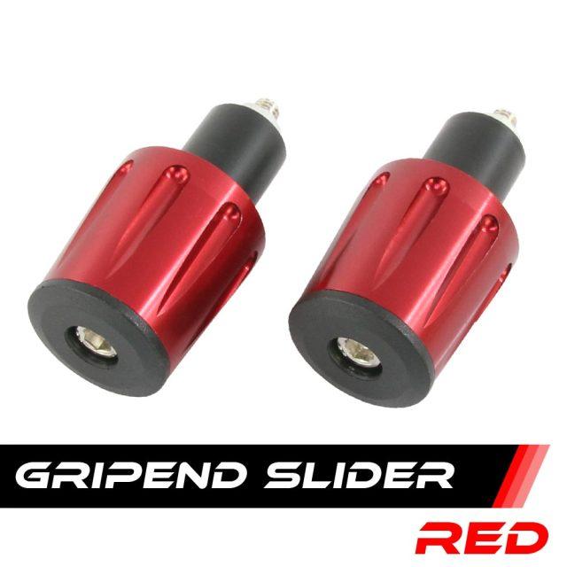 汎用 グリップエンド バーエンド エンドキャップ スライダー アルミ削り出し 2個セット レッド