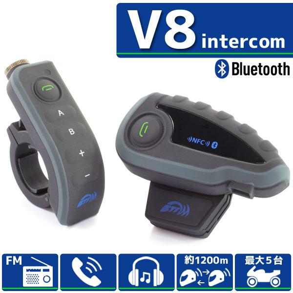 Bluetooth対応 インカム 【V8/1台】