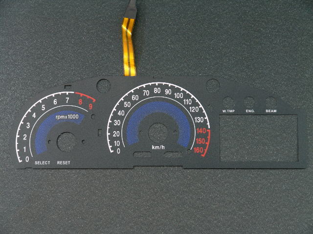 マジェスティー(SG20/4D9J)用:ELメーターパネル ブラックパネル ホワイトorブルー発光