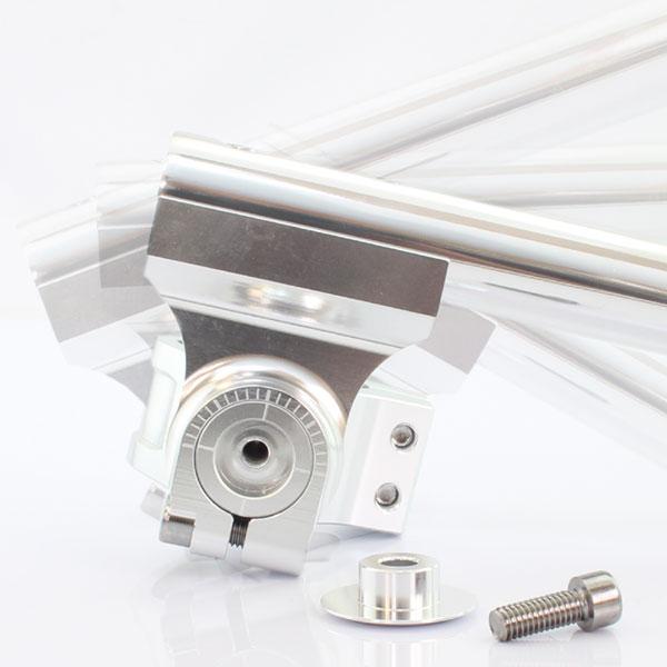 汎用 35Φ 35mm セパレートハンドル/セパハン キット シルバー 角度調整可能 HIGHタイプ