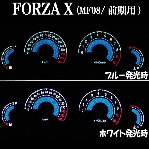 フォルツァX(MF08)用:ELメーターパネル ブラックパネル ホワイトorブルー発光