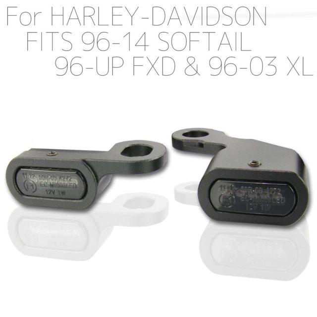 ハーレー スポーツスター ソフテイル ダイナ LED リロケーション マイクロミニウインカー ブラックボディ スモークレンズ XL883 XL1200