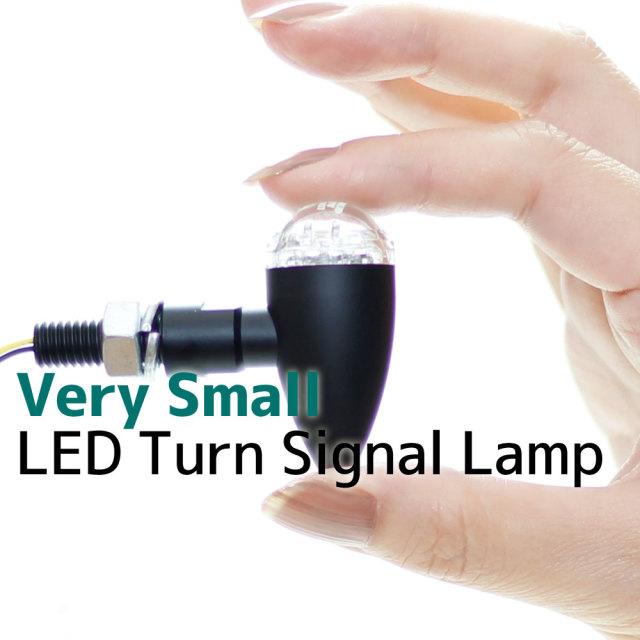 マイクロ ミニ LED ブレット ウインカー 超小型 ウィンカー ブラックボディ クリアレンズ 車検対応 2個セット