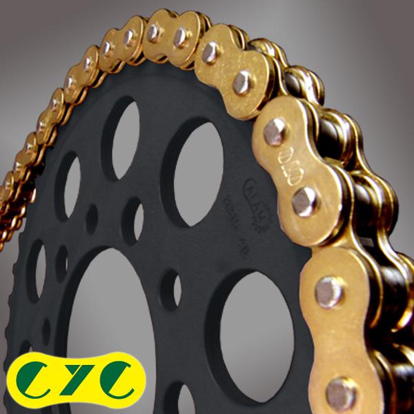 CYC バイクチェーン:525-120L EVXシリーズ VXリングシールチェーン ゴールド
