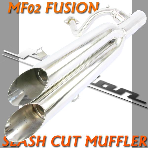 フュージョン用(MF02):スラッシュカット2本出し ツインマフラー