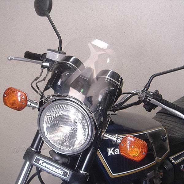 汎用バイクパーツ:クリアメーターバイザー(取り付け用ステー付) ネイキット CB400 CB1300 XJR400 バリオス