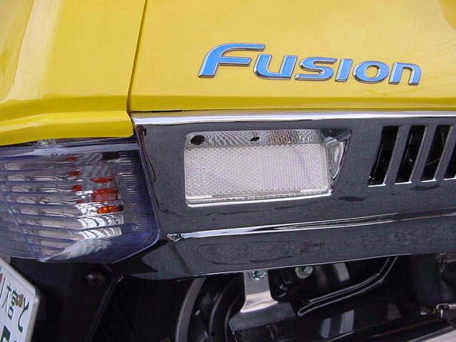 フュージョン用(MF02):クリアリフレクター 装着イメージ