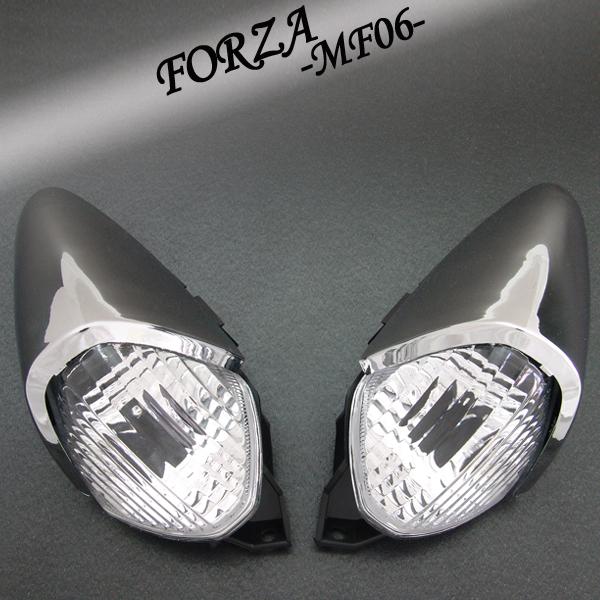 フォルツァ用(MF06):クリスタル ユーロウインカー タイプ2(メッキカバー付)