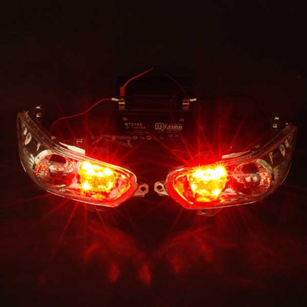代引き手数料無料!! フォルツァ用(MF08):LED仕様 内蔵型 クリアユーロテールユニット