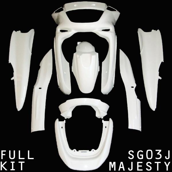 SG03J マジェスティ アッパーカウル ホワイト