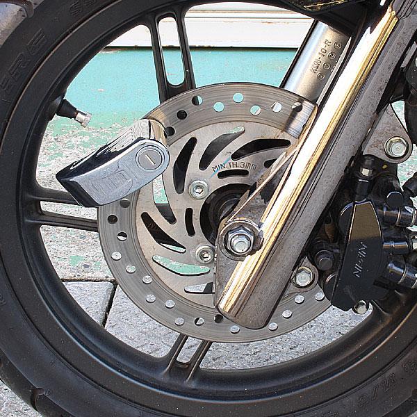 バイク盗難防止用 大音量110db アラーム付き ディスクロッック
