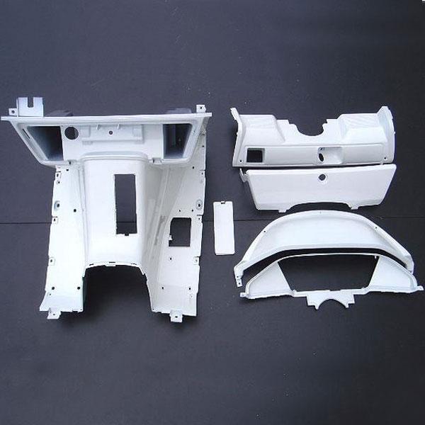 フュージョン用(MF02):塗装済み インナーカウル 9点セット (白)
