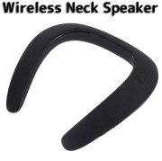 ウェアラブルネックスピーカー Bluetooth ワイヤレス ネックスピーカー ブラック 黒 首かけ式 スピーカー 軽量 高音質