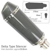 デルタ型サイレンサー